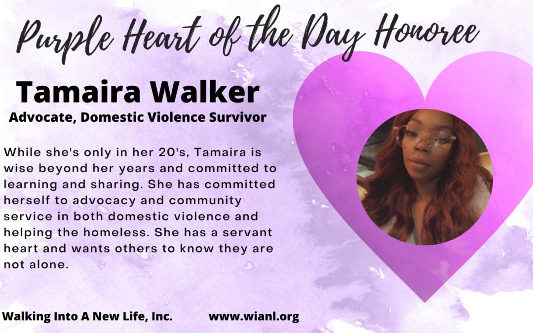 Purple Heart of the Day: Tamaira Walker