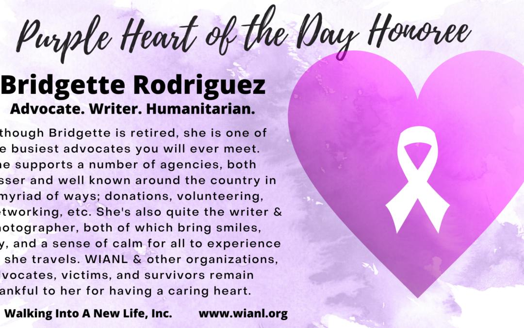 Purple Heart of the Day: Bridgette Rodriguez