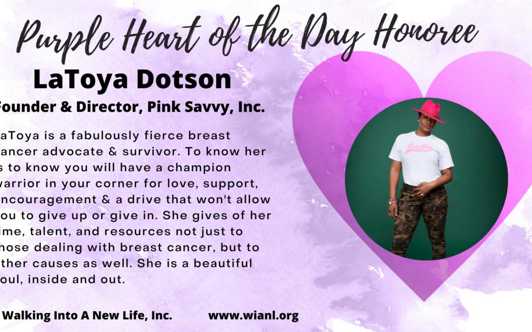 Purple Heart of the Day: LaToya Dotson